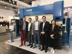 Accurl deltog i Hannover International Machine Tool Exhibition i Tyskland i 2017