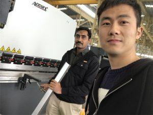 Algeria Client Testing Pressebremse Machine i vores fabrik