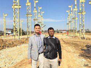 Bangladesh kunder kommer til at besøge den nye fabrik vi bygger