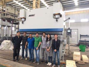 Brasilien kunder besøger fabrikker og køb pressebremser