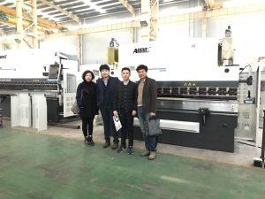 Koreanske kunder besøger vores fabrik